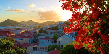 Charlotte Amalie which includes a coastal town, a sunset and general coastal views