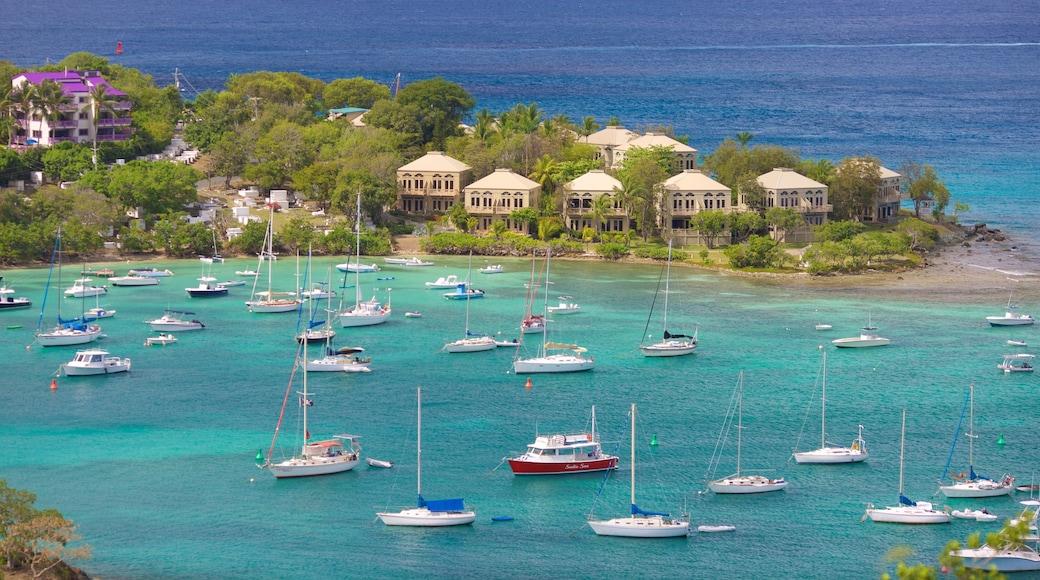Cruz Bay featuring general coastal views, a bay or harbor and tropical scenes