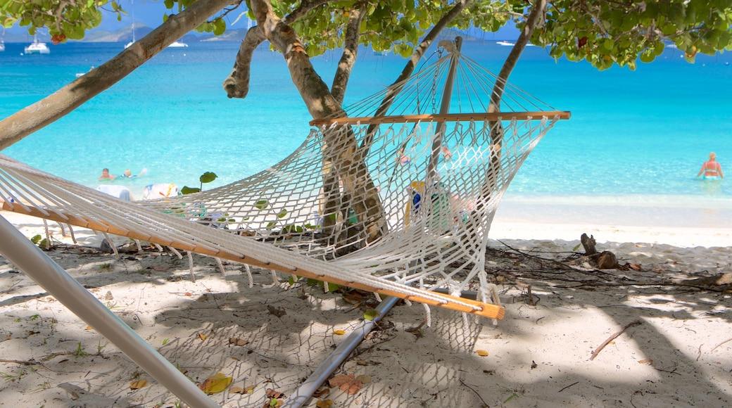 Honeymoon Beach mostrando cenas tropicais e uma praia de areia