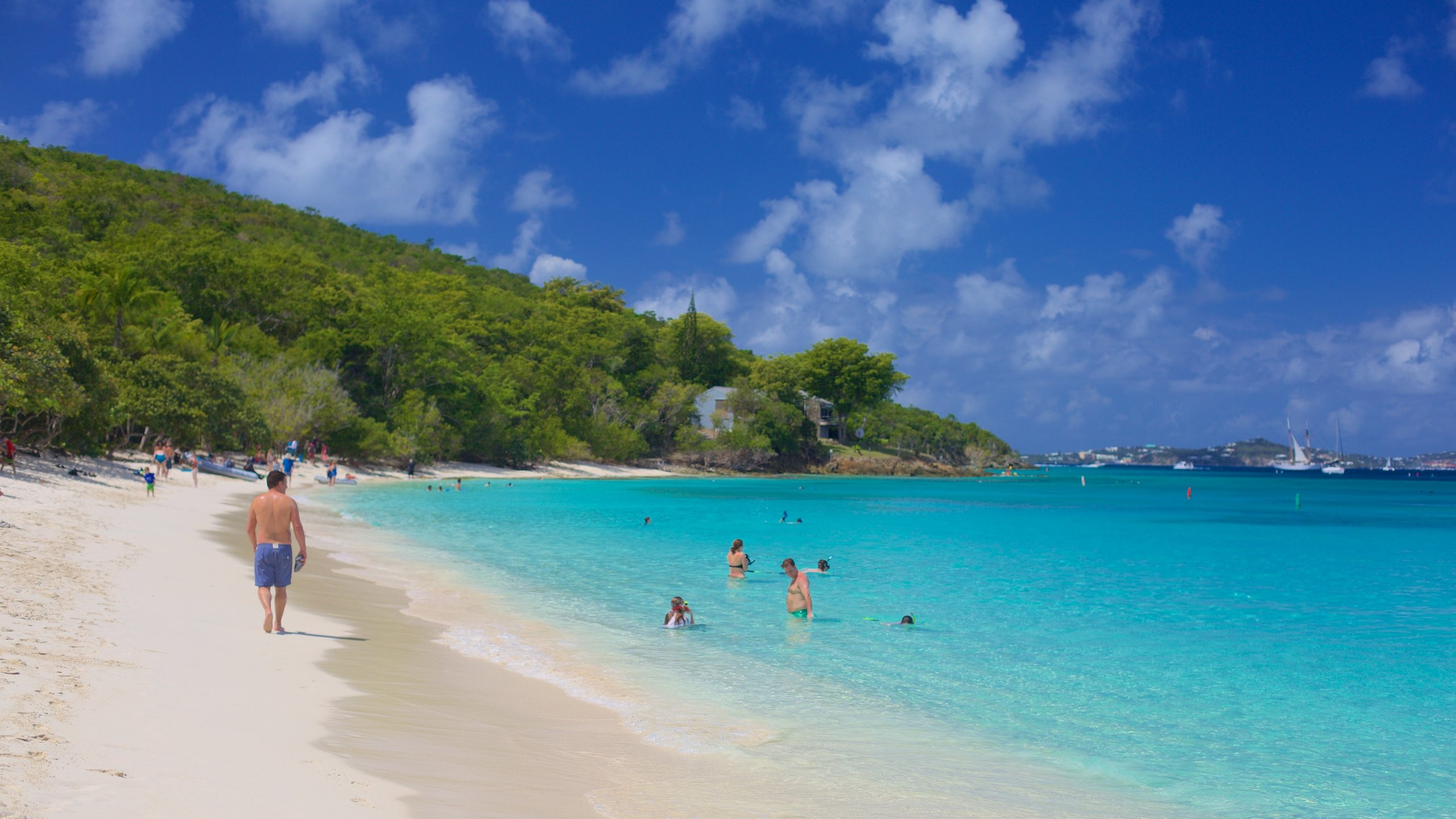 Hike on scenic trails, explore sugar plantation ruins and snorkel along an underwater trail in this pristine nature park, which covers much of St. John.