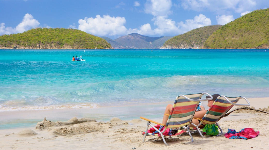 Cinnamon Bay which includes island images and a beach