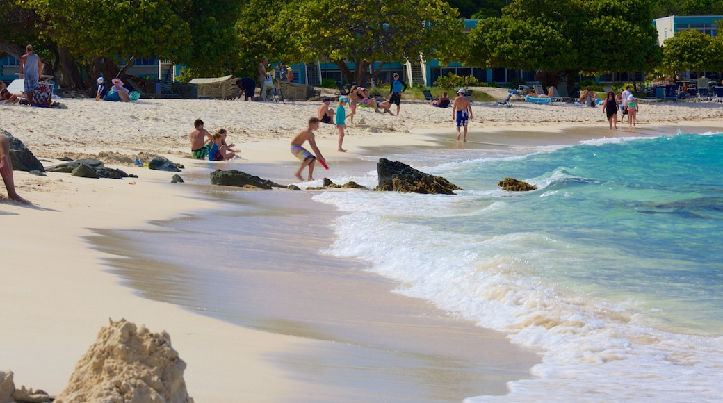 Sapphire Beach showing a sandy beach