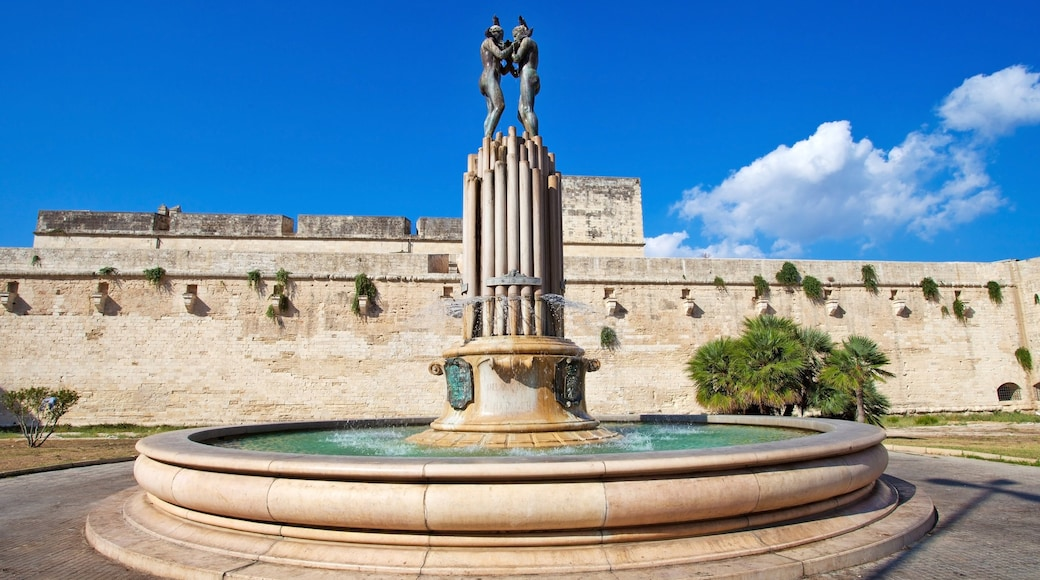 Lecce which includes a fountain and heritage elements