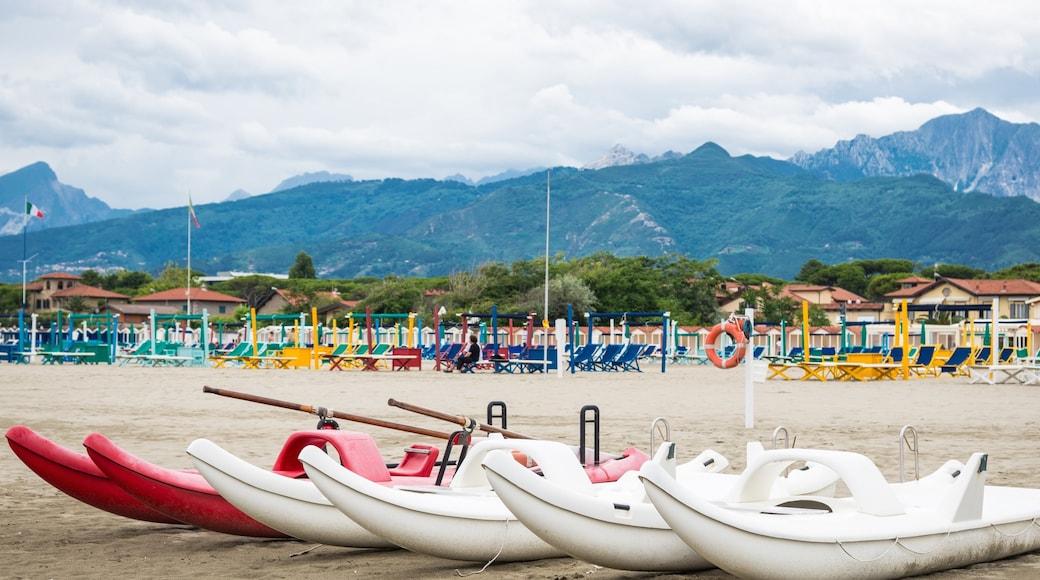 Lido di Camaiore featuring a sandy beach and landscape views