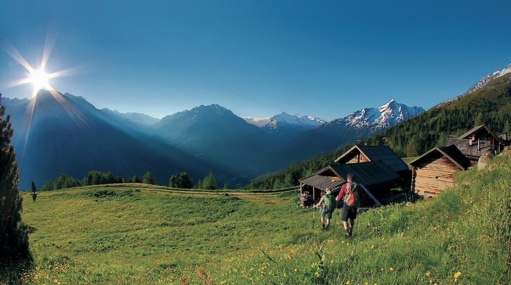 Austria featuring landscape views, mountains and hiking or walking