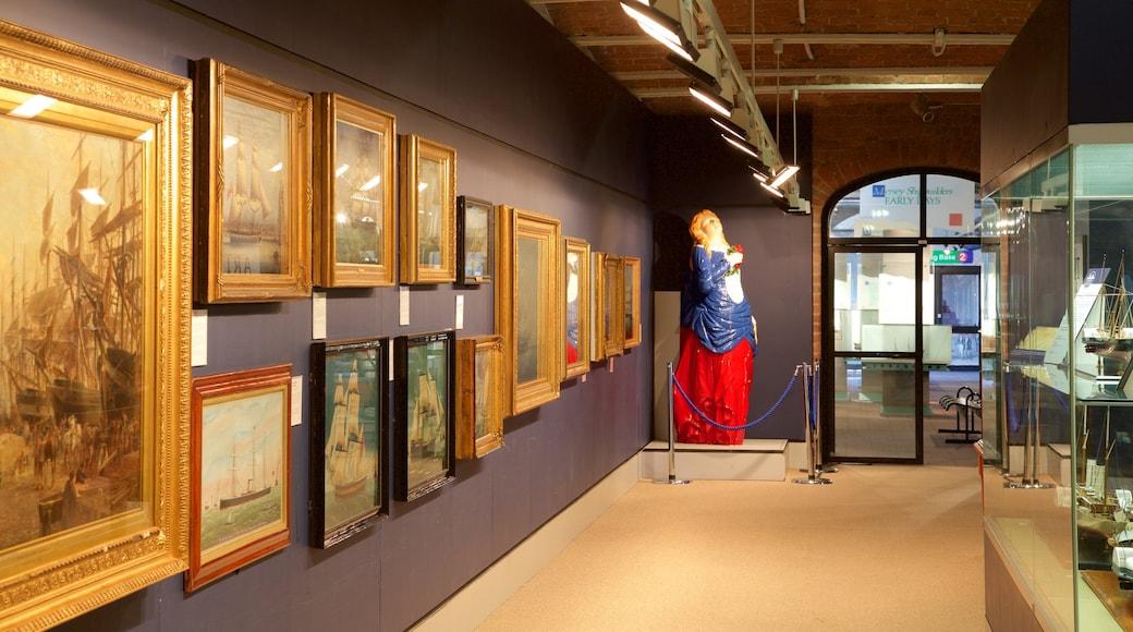 Merseyside Maritime Museum das einen Innenansichten