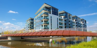 Kingston which includes a bridge and modern architecture