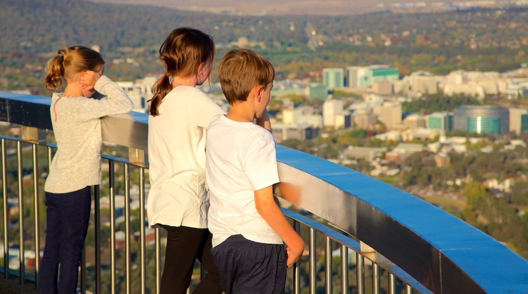 Telstra Tower which includes a city as well as children