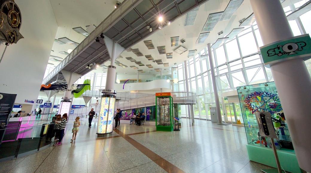 Questacon which includes interior views