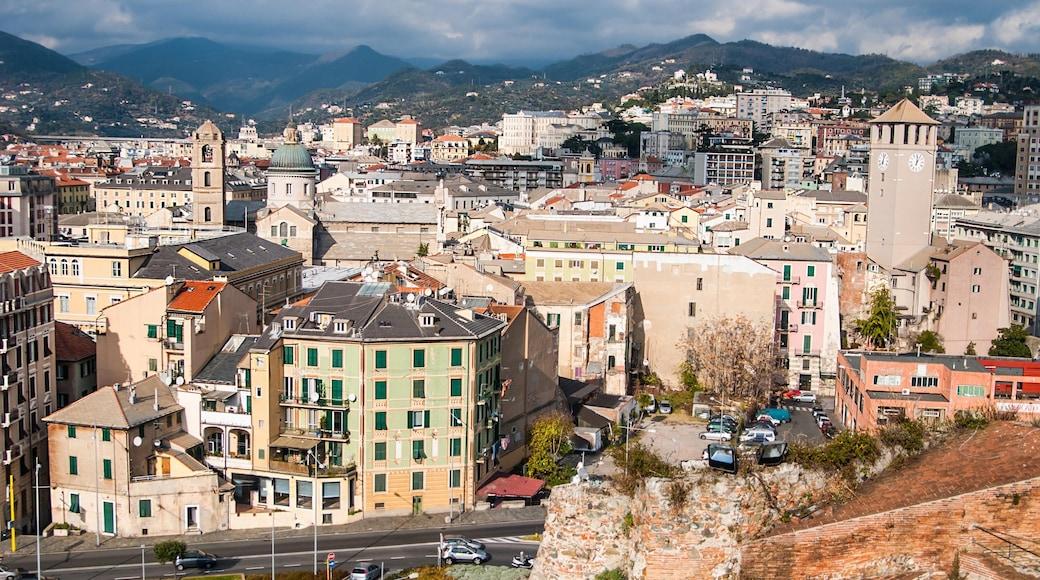 Savona che include vista del paesaggio e città