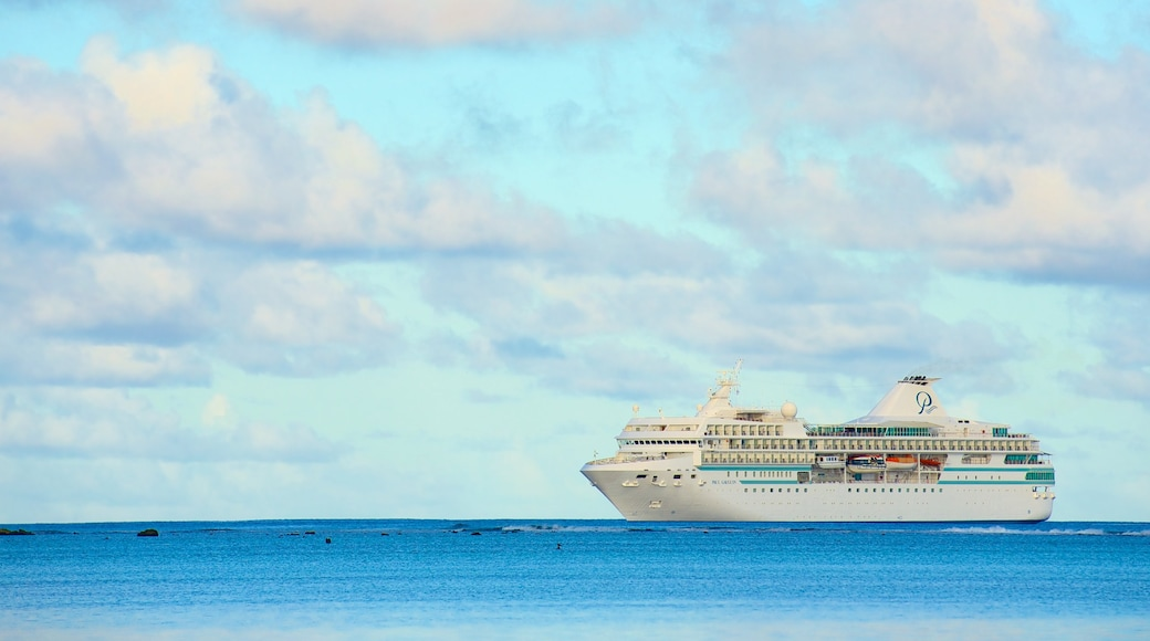 Aitutaki which includes cruising and general coastal views