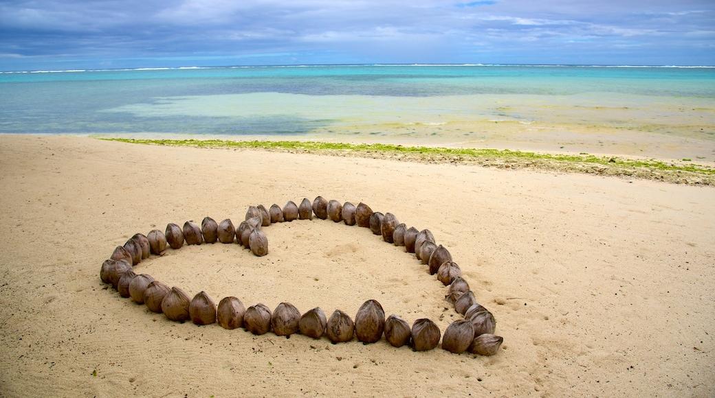 Rarotonga featuring a beach