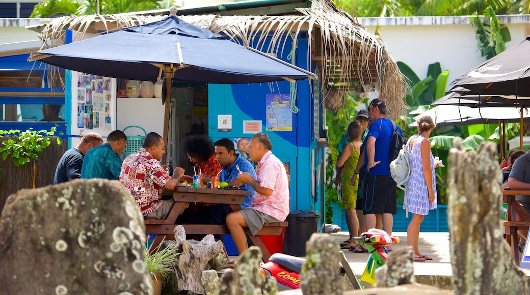 Muri Beach which includes outdoor eating as well as a small group of people