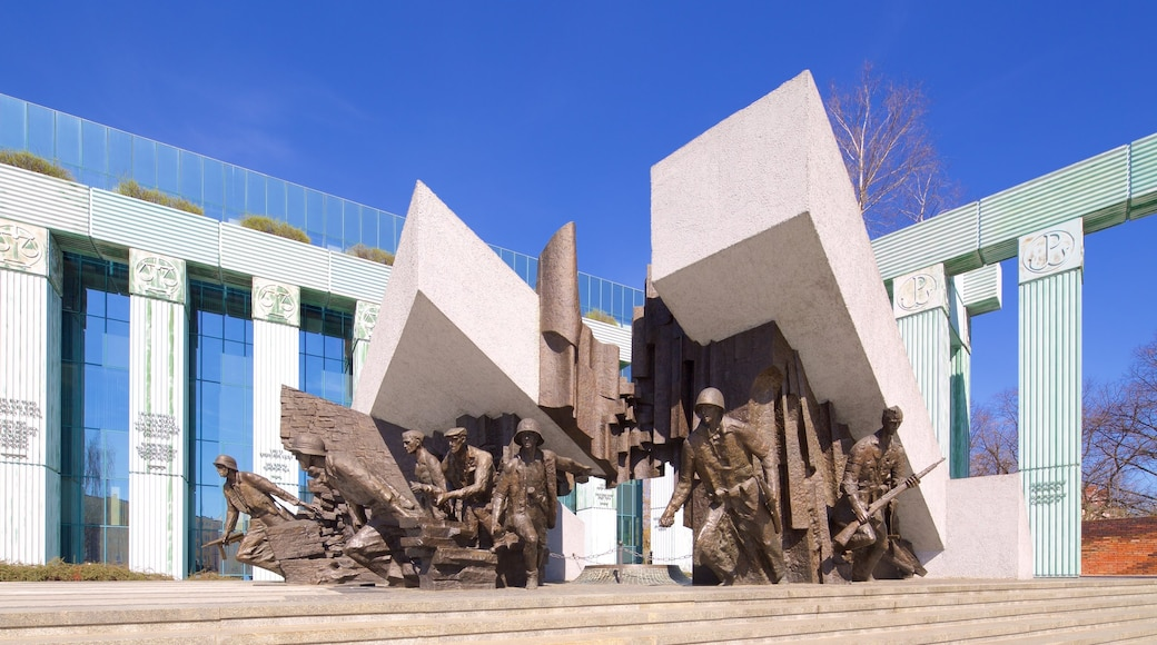 Warsaw Uprising Monument which includes a statue or sculpture
