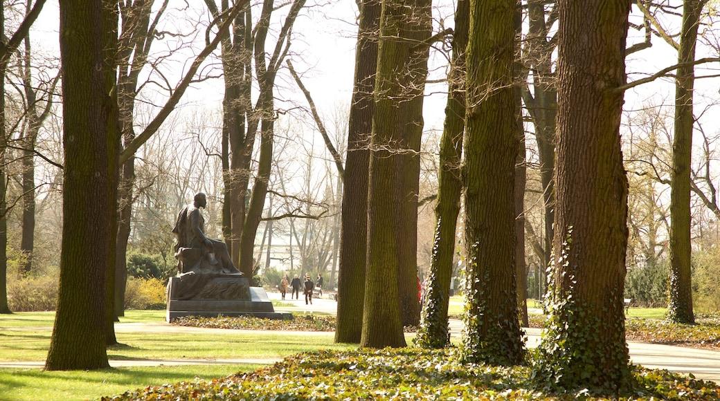 Lazienki Park featuring a garden