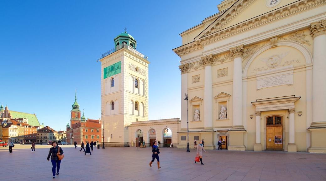 St.-Anna-Kirche welches beinhaltet Platz oder Plaza, Straßenszenen und Kirche oder Kathedrale