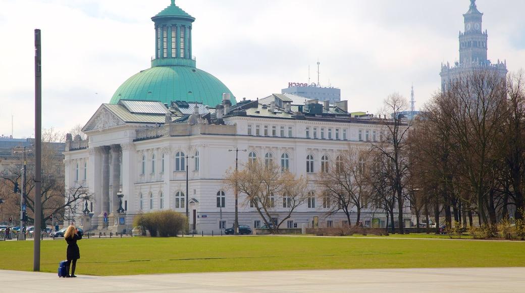 Pilsudski Square showing heritage architecture
