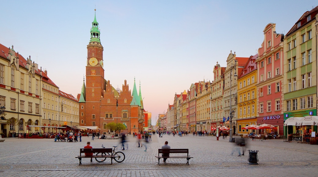 Wroclaw Town Hall featuring heritage architecture and a square or plaza