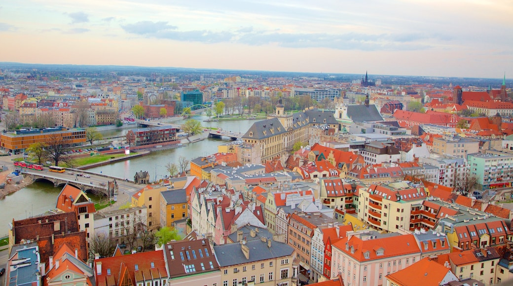 Wroclaw featuring a city and a river or creek