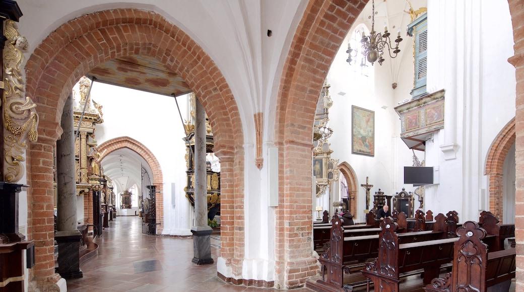 Kathedrale von Oliwa welches beinhaltet Kirche oder Kathedrale und Innenansichten
