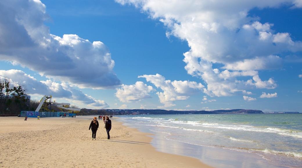Plage de Jelitkowo mettant en vedette plage de sable