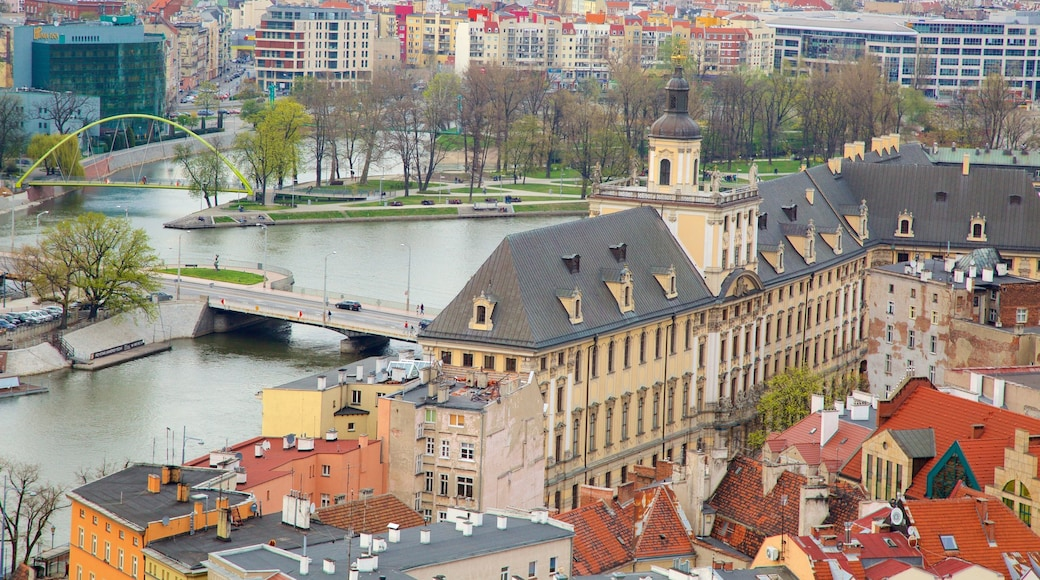 Wroclaw University featuring a river or creek and a city