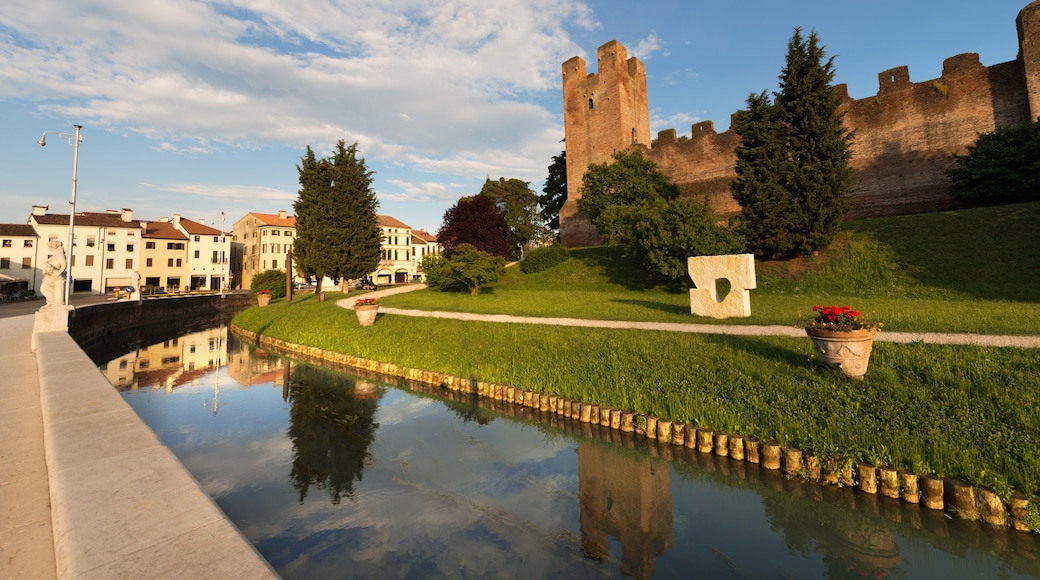 Treviso featuring a river or creek and a castle