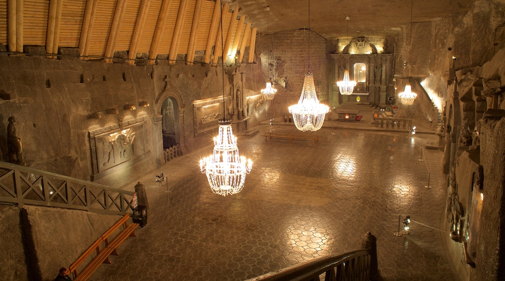 Wieliczka saltgruve som viser innendørs