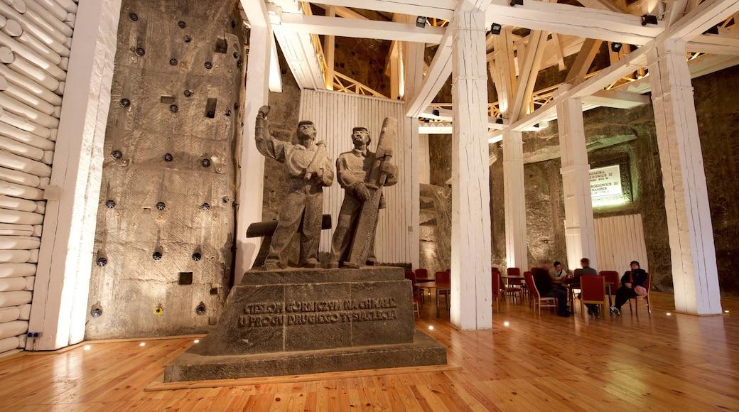 Wieliczka Salt Mine which includes interior views