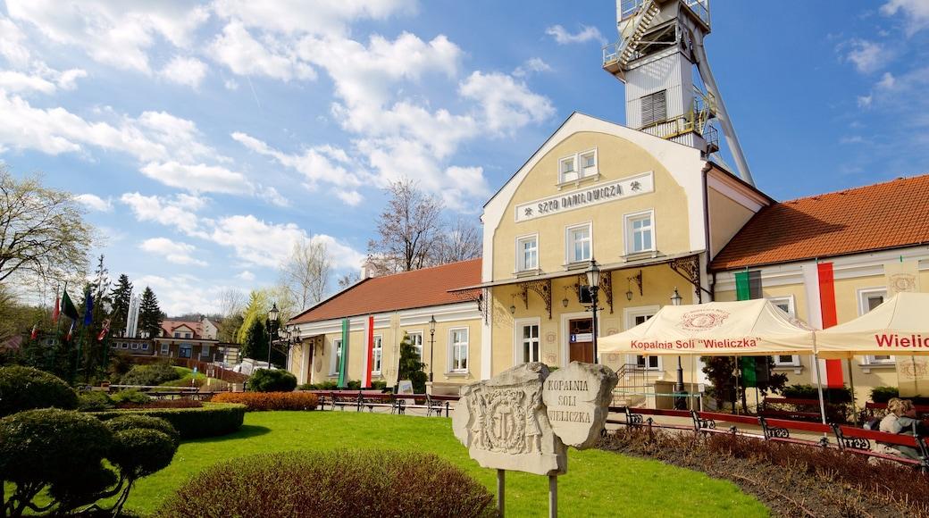 Wieliczka saltgruve fasiliteter samt kulturarv og hage