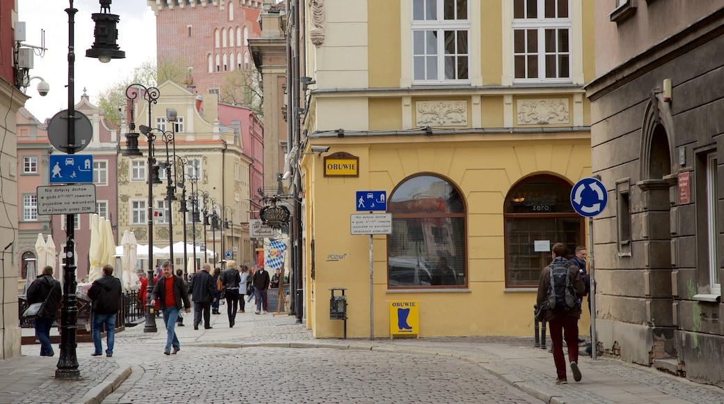 Stary Rynek welches beinhaltet Straßenszenen