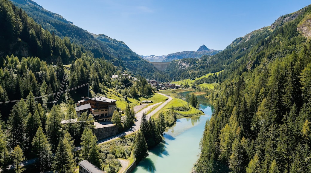Alpes du Nord featuring forests, landscape views and a river or creek