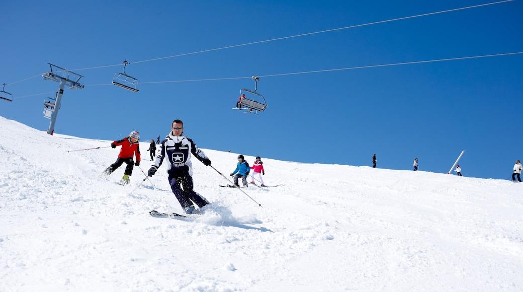 Domaine skiable de Courchevel qui includes ski et neige aussi bien que petit groupe de personnes