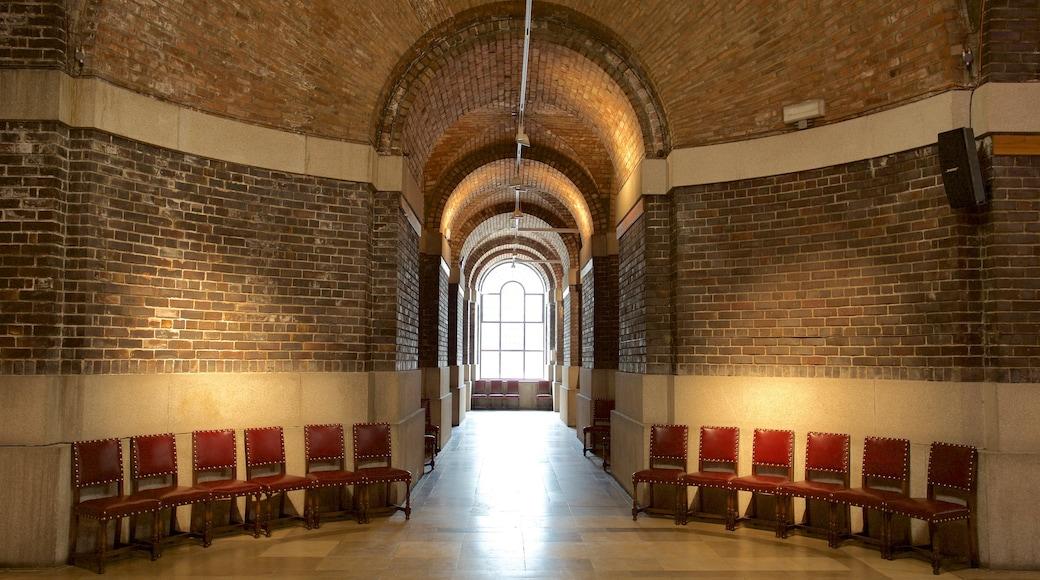 Liverpool Metropolitan Cathedral featuring interior views