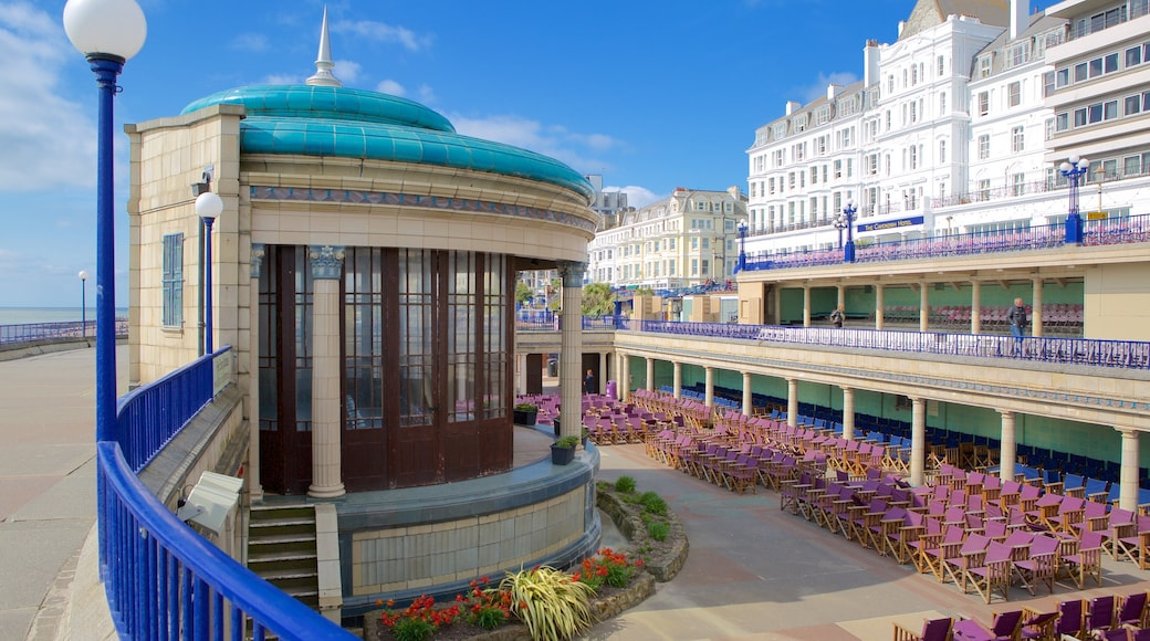 Eastbourne Bandstand showing a city