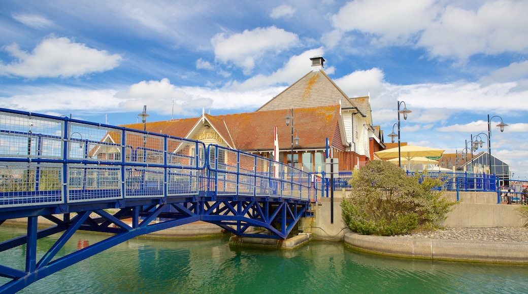 Sovereign Harbour which includes a river or creek and a bridge