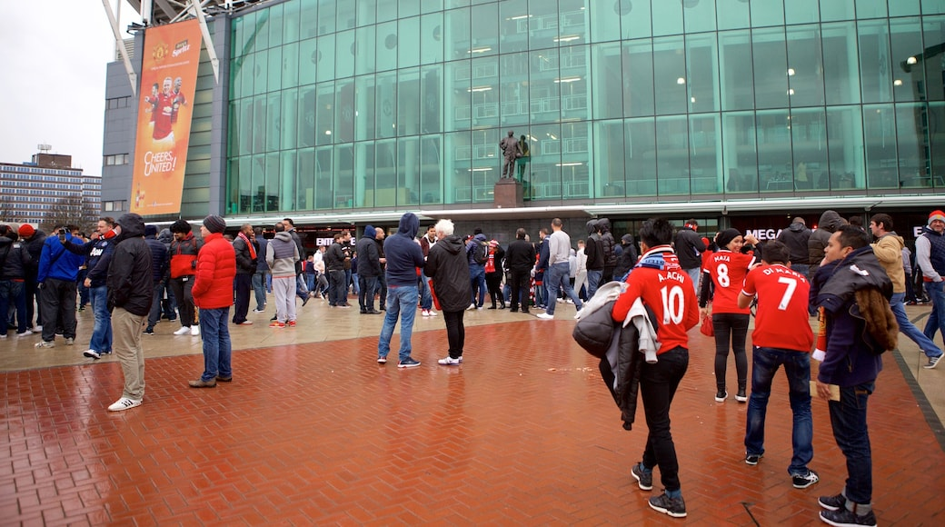 Old Trafford as well as a large group of people