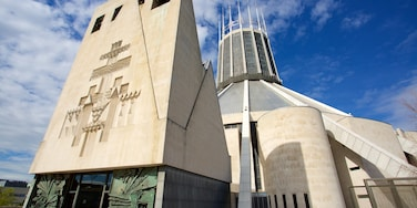 Liverpool Metropolitan Cathedral which includes a church or cathedral