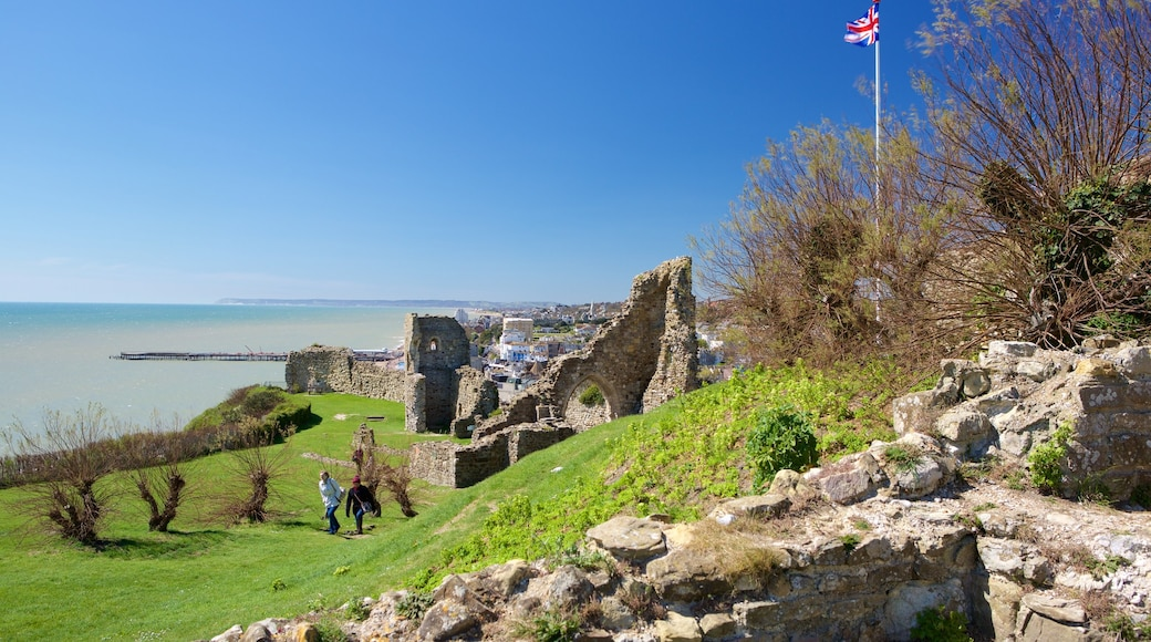Hastings Castle which includes a ruin and heritage elements