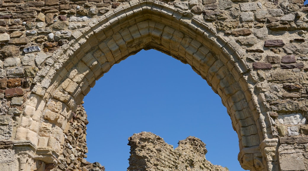 Hastings Castle which includes heritage elements and building ruins