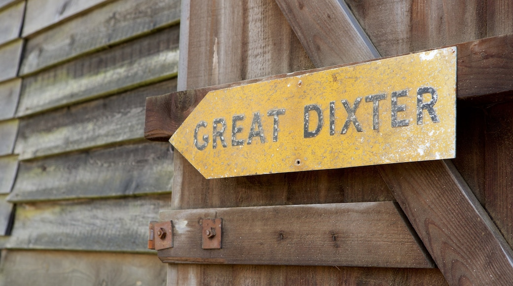 Great Dixter House and Gardens which includes signage