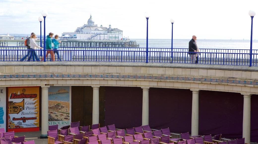 Eastbourne Bandstand showing general coastal views