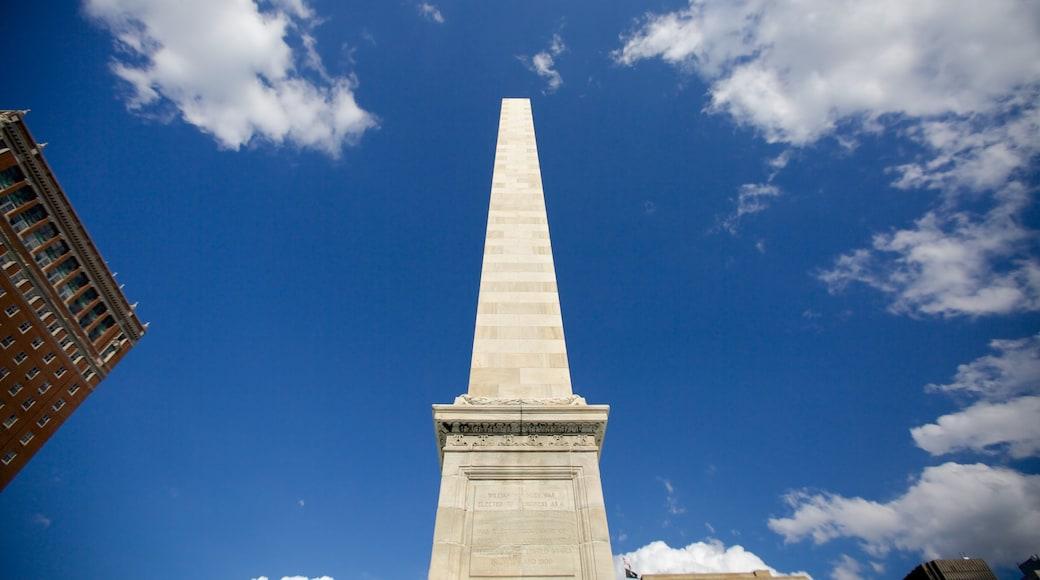 Buffalo featuring a monument
