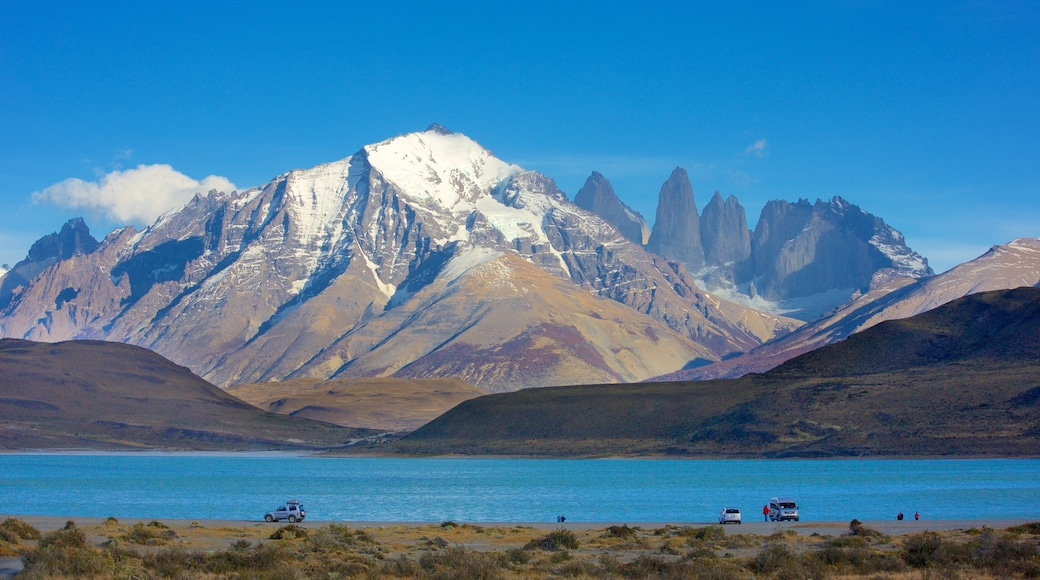 Torres Del Paine featuring mountains, landscape views and a lake or waterhole
