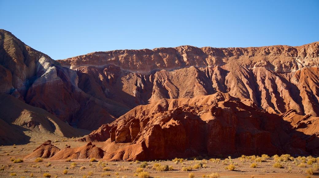 Valle del Arcoiris welches beinhaltet Wüstenblick und Landschaften