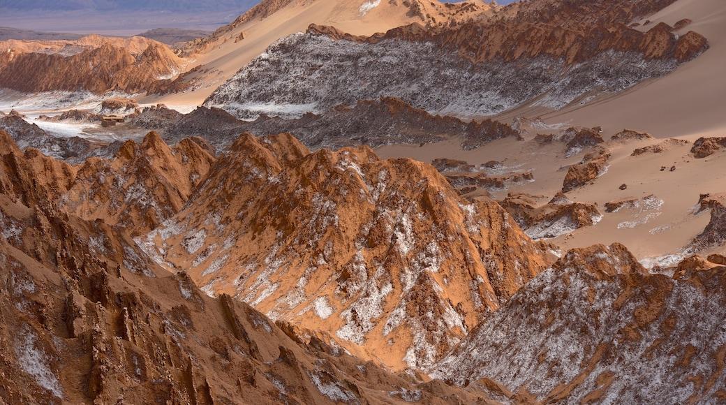 Valle de la Luna welches beinhaltet Wüstenblick