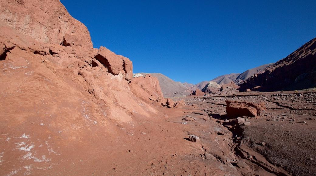 Valle del Arcoiris welches beinhaltet Landschaften und Wüstenblick