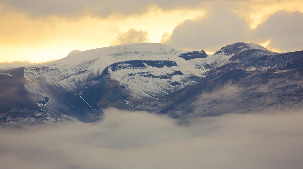 Canal Upsala ofreciendo niebla y montañas