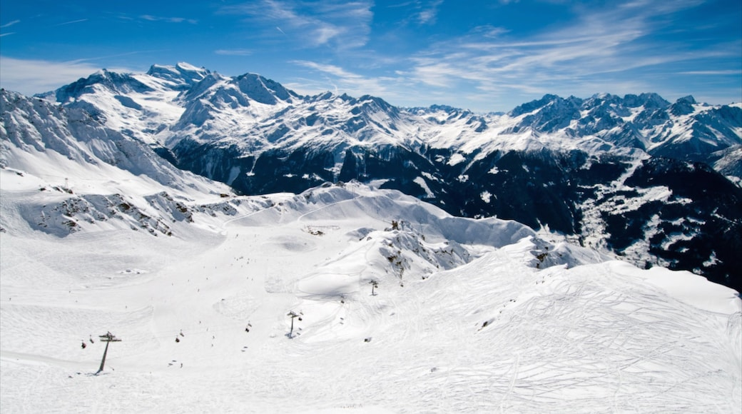 Verbier Ski Resort featuring mountains, snow and landscape views