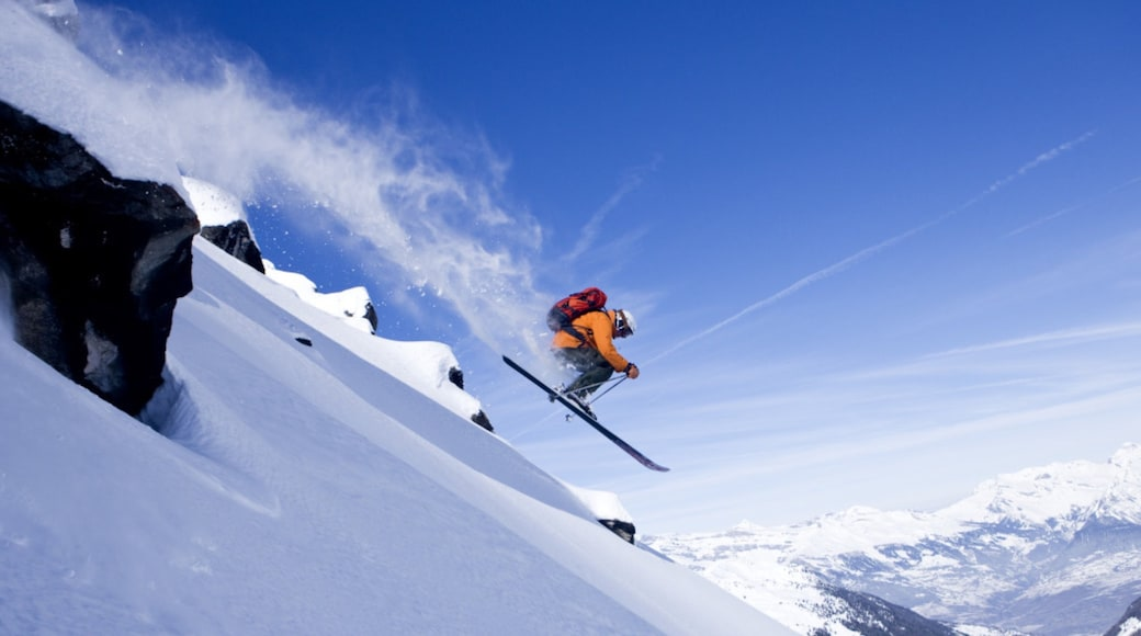 Verbier Ski Resort which includes snow and cross-country skiing as well as an individual male